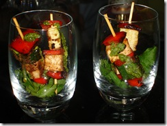 brochettes légumes grillees