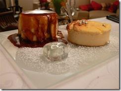 Cheese Cake et Vacherin au Caramel