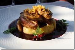 filet pigeon foie gras pommes vin rouge