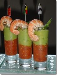 Queue langoustine fondue tomate guacamole