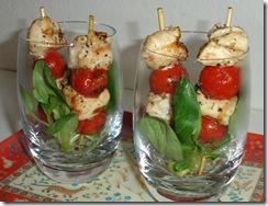 verrine brochette poulet tomate