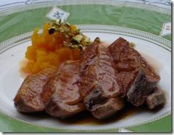 filet canard jus laque miel potimarron pistache 2