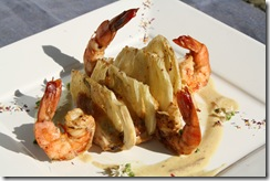 pintade gambas lait coco curry