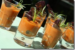 verrine haricot coco coulis carotte