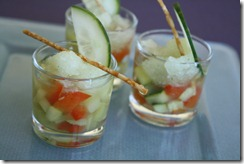 bouillon glacee granite concombre