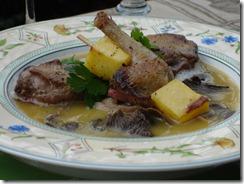 suppreme pigeon champignon cuisse mangue