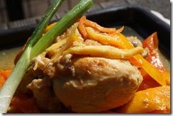 poulet saute carotte gingembre